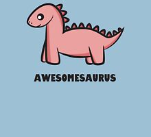 Awesomesaurus (pink) Womens Fitted T-Shirt