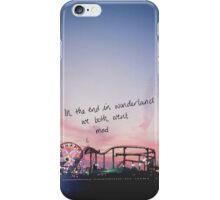 wonderland lyrics iPhone Case/Skin
