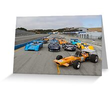 Mclarens of Laguna Seca Greeting Card