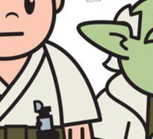 Mitesized Luke & Yoda Sticker