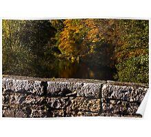 Elgin, Oldmills Brig in Autumn. Poster