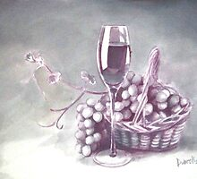 still life wine by Dobrochinskaya