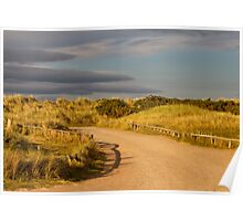 Findhorn, driveway to the beach. Poster