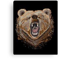 Pixel Bear Canvas Print
