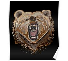 Pixel Bear Poster
