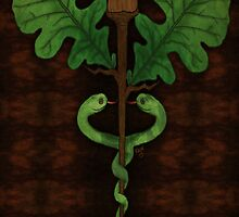 The Herbalist's Caduceus by simfoniadesigns