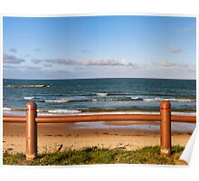 Hopeman beach in autumn. Poster