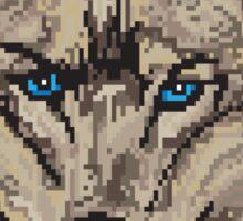 Pixel Wolf II Sticker