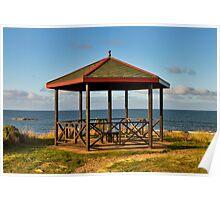 Hopeman beach shelter. Poster