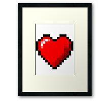 8-Bit Pixel Heart Framed Print