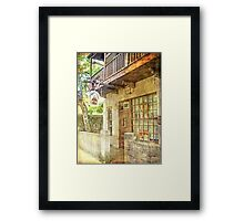 Old Town St. Augustine Framed Print