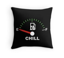 no chill fuel gauge Throw Pillow