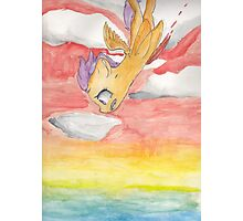 Scootaloo Falling off a Cliff Photographic Print