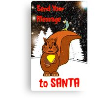 A Message for Santa Christmas card Canvas Print