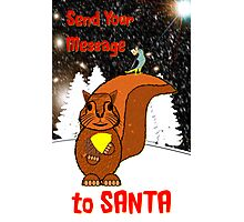 A Message for Santa Christmas card Photographic Print