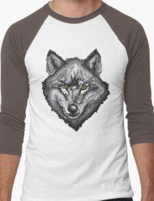 Pixel Wolf I Men's Baseball ¾ T-Shirt
