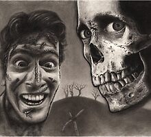 Evil Dead 2 - Bloody Ash with Skull Horror Art by poedesigns