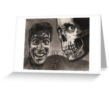 Evil Dead 2 - Bloody Ash with Skull Horror Art Greeting Card