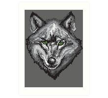 Pixel Wolf I Art Print