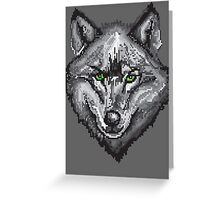 Pixel Wolf I Greeting Card