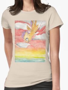 Scootaloo Falling off a Cliff Womens Fitted T-Shirt