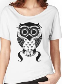 Mono Twit-a-woo Owl Women's Relaxed Fit T-Shirt