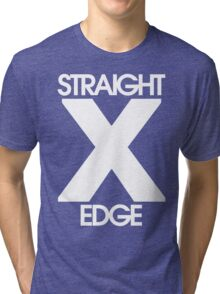 Straightedge (white) Tri-blend T-Shirt