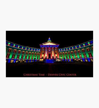 Christmas Time - Denver Civic Center Photographic Print