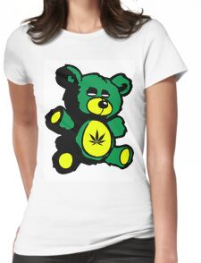 I Love Pot Clothing Stash Bear Womens Fitted T-Shirt