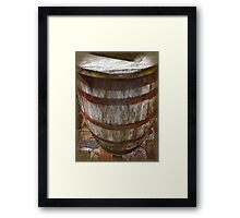 Looking Down the Barrel Framed Print