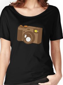 Old school vintage camera with lens Women's Relaxed Fit T-Shirt