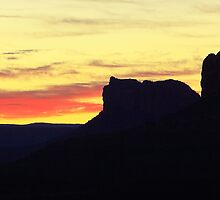 Sunrise in Sedona by Roupen  Baker