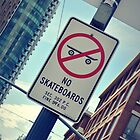 no skateboarding please by Derek Williams