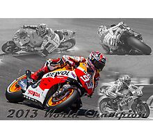 Marc Marquez 2013 World Champion Photographic Print