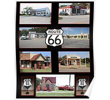 Route 66 Gas Stations Poster