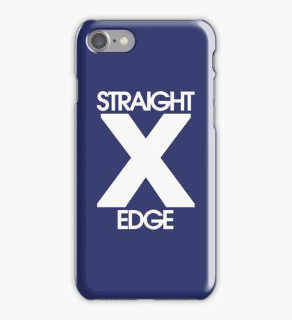 Straightedge (white) iPhone Case/Skin