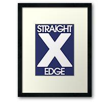 Straightedge (white) Framed Print