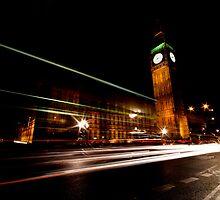 Big Ben & the night bus by Darren Bailey LRPS