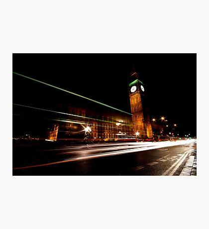 Big Ben & the night bus Photographic Print