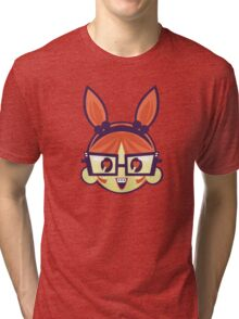 Glasses bunny Tri-blend T-Shirt