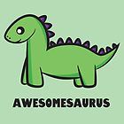 Awesomesaurus (green) by Lauramazing