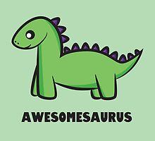 Awesomesaurus (green) by Lauramazing