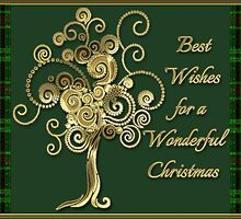Best Wishes For A Wonderful Christmas Card by Vickie Emms