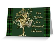 Best Wishes For A Wonderful Christmas Card Greeting Card