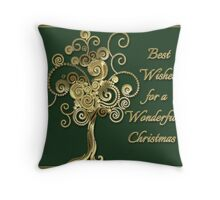 Best Wishes For A Wonderful Christmas Card Throw Pillow
