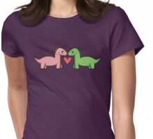 Love at first roar.  Womens Fitted T-Shirt