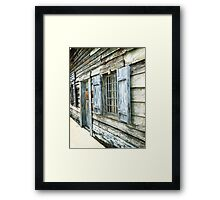 Old and Weathered Framed Print