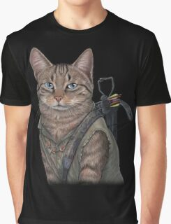 Norman Reedus Cat  Graphic T-Shirt