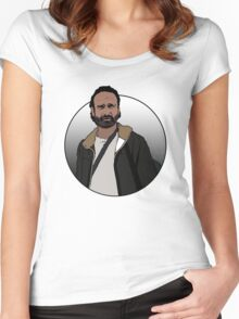 Rick Grimes - The Walking Dead Women's Fitted Scoop T-Shirt