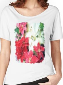 Mixed color Poinsettias 1 Angelic Women's Relaxed Fit T-Shirt